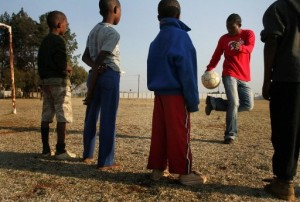 Children play at Amazing Grace Children's Home in South Africa. Photo courtesy of AFP.