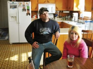 Mark Davis and Donna Stobla of Greenville, S.C. used to earn almost $70,000 a year but are now struggling financially. Photo courtesy of JournalWatchdog.com.