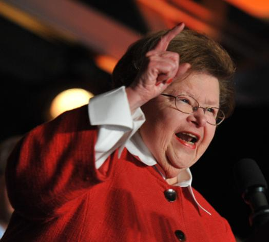 Barbara Mikulski clown