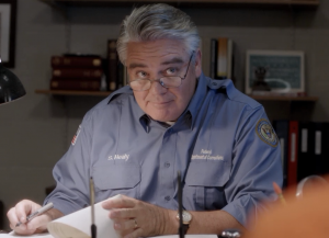 """Actor Michael Harney portrays prison social worker Sam Healy on """"Orange Is the New Black."""""""
