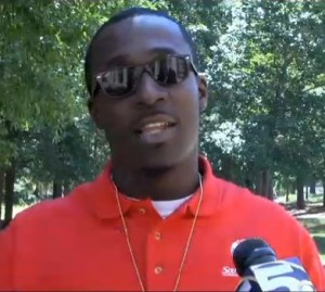 University of South Alabama social work and pre-law student Jonathan Davis compalins about the student loan interest rate increase. Screenshot courtesy of WKRG.com.