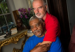 ABilly Jones-Hennin, seated, and his partner Christopher Henin faced discrimination from a physical therapist. Photo courtesy of the Washington Post.
