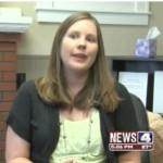 Social worker Erin Strohbehn. Screen capture courtesy of KMOV TV.
