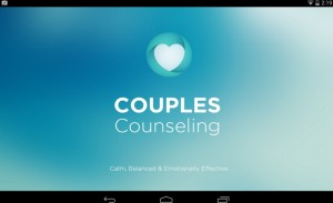 A screenshot of social worker Marigrace Randazzo-Ratliff's app, Couple Counseling & Chatting.""