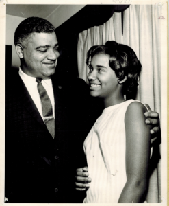 Bonnie Boswell as a child with uncle Whitney M. Young Jr. Photo courtesy of PBS.