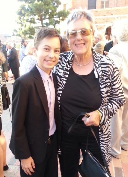 Actor Hayden Byerly meets past NASW President Suzanne Dworak-Peck, SW, LCSW, ACSW, at the SAMHSA Voice Awards.