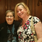 Caitlin Ryan (left) and Maryland transgender activist Dana Beyer at a Cosmos Club reception for Ryan and the Family Acceptance Project.