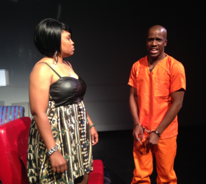National Association of Social Workers staff MarQuis Fair (right) appears in the play.