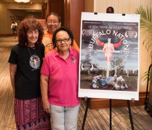 "Filmmaker and social worker Leslye Abbey (left), Eileen Janis (back) and Yvonne ""Tiny"" DeCory at NASW 2016 National Conference Film Festival."