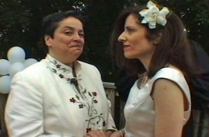 Patricia Livingstone (right) marries but soon is a victims of domestic violence. Photo courtesy of Lisa Olivieri.