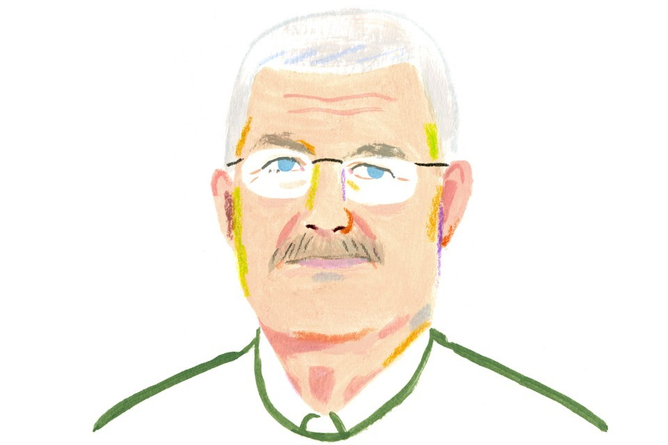 Illustration of John Cowart courtesy of The Atlantic.