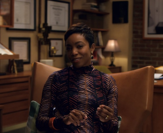 "Singer and actress Heather Headley portrays social worker  Dr. Clarice Jamison in the series ""She's Gotta Have It."" Screenshot from Netflix."