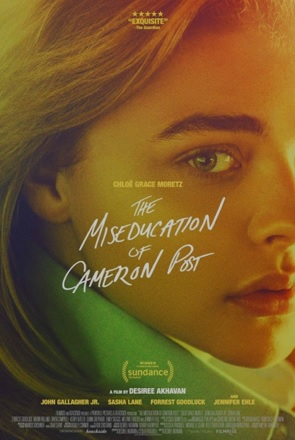 text: Miseducation of Cameron Post, with Chloe Moretz in background