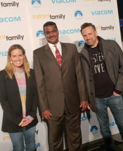 "NASW CEO Angelo McClain with ""Instant Family"" Director and Writer Sean Anders (right) and his wife, Beth."